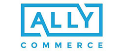 Ally Commerce logo in blue and white. A Backed by ATL company.