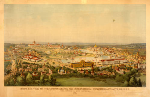 Srawing of the 1895 Cotton States and International Exposition grounds