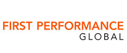 First Performance Global logo, orange and black on a white background. A Backed by ATL company.