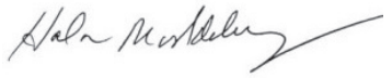 Hala Moddelmog's signature, the President and CEO of the Metro Atlanta Chamber.