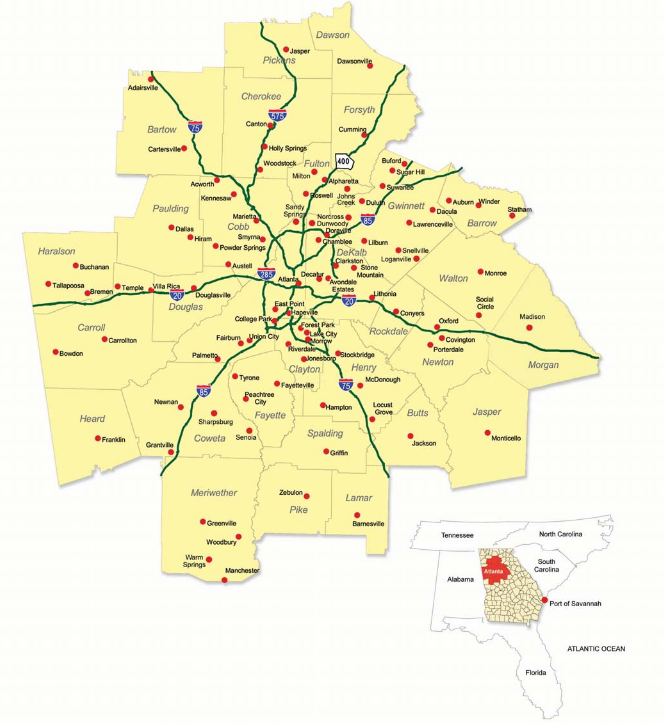 Metro Atlanta Regional Neighborhood Map Mac