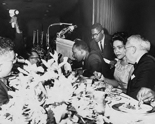 Martin Luther King, Jr., and Coretta Scott King, and Atlanta mayor Ivan Allen, Jr.