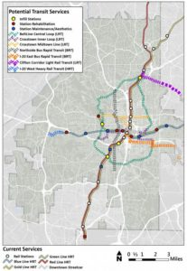 MARTA's Rail Expansion Wishlist Map